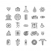 Medical icons set for your design