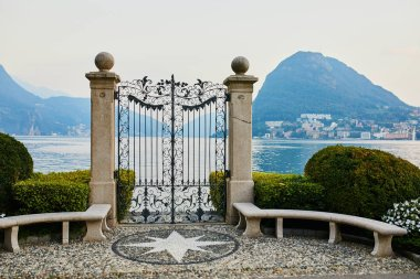 Scenic view from Parco Civico-Ciani in the town of Lugano