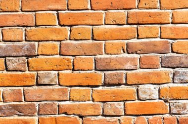 Vintage red brick wall as background texture