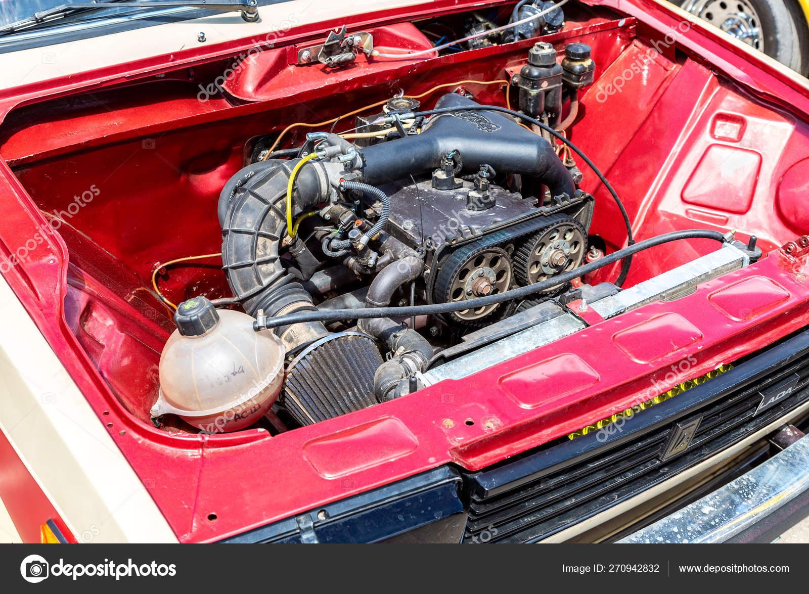 Tuned Turbo Car Engine Of Lada Car Stock Editorial Photo C Blinow61 270942832