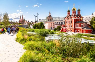 Moscow Kremlin, Cathedral of Vasily Blessed, Park Zaryadye in Mo