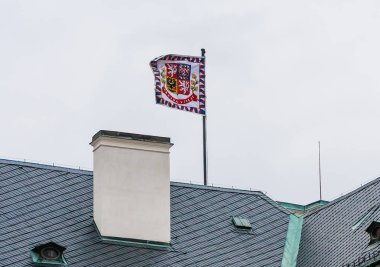 Prague Castle - Flag of the president (Presidential standard). It is the official residence of the President of the Czech Republic.