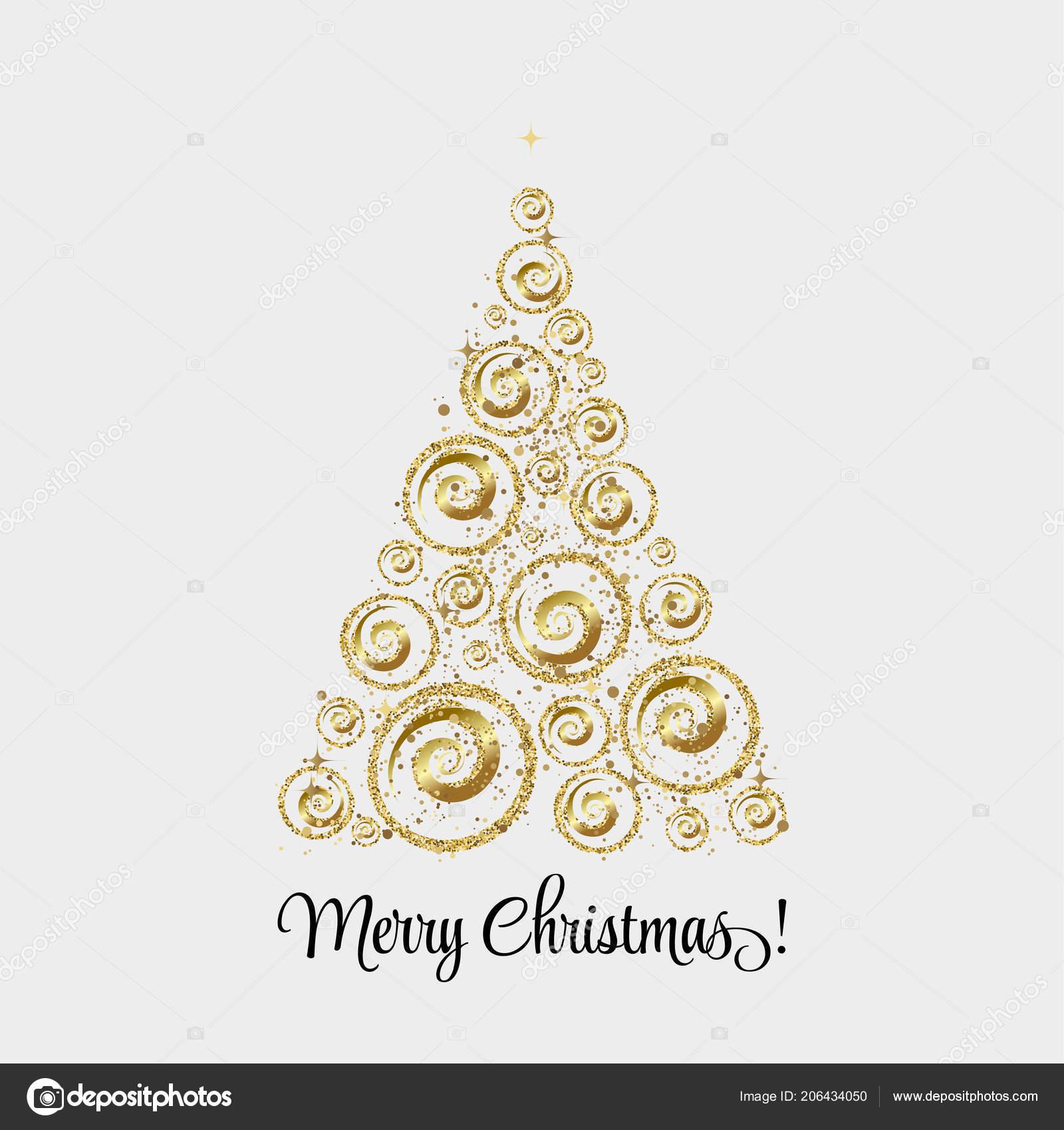 Sfondi Natalizi Oro.Elegante Sfondo Di Natale Con Palle Di Natale Oro Vettoriali Stock
