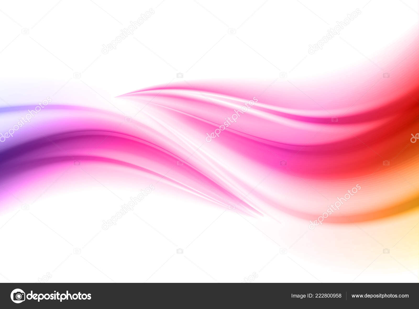 Abstract Colorful Vector Background Color Flow Liquid Wave For