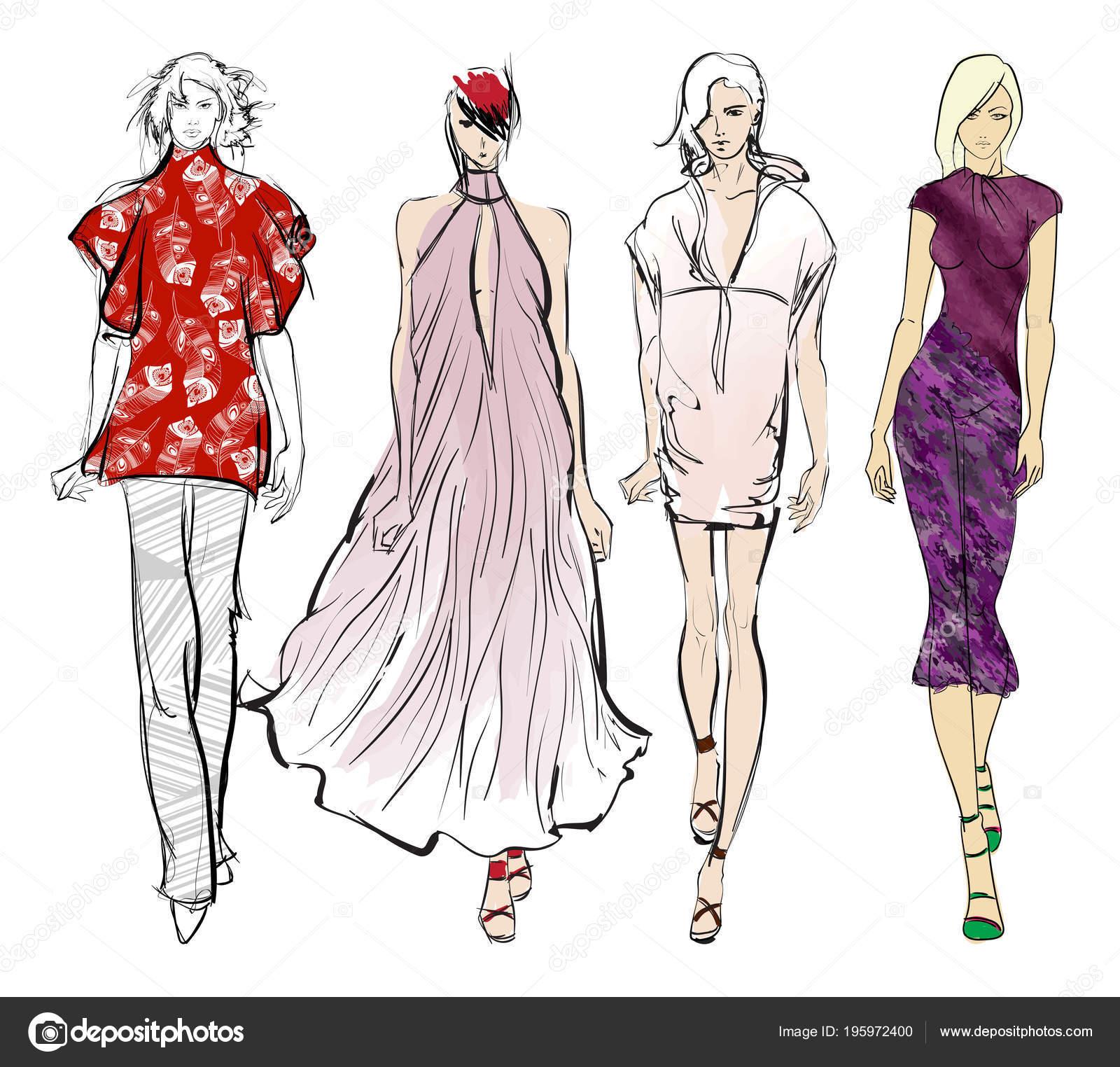 new style fee99 7d18c Modelli Vestiti Alla Moda Belle Ragazze Ragazze Fashion ...