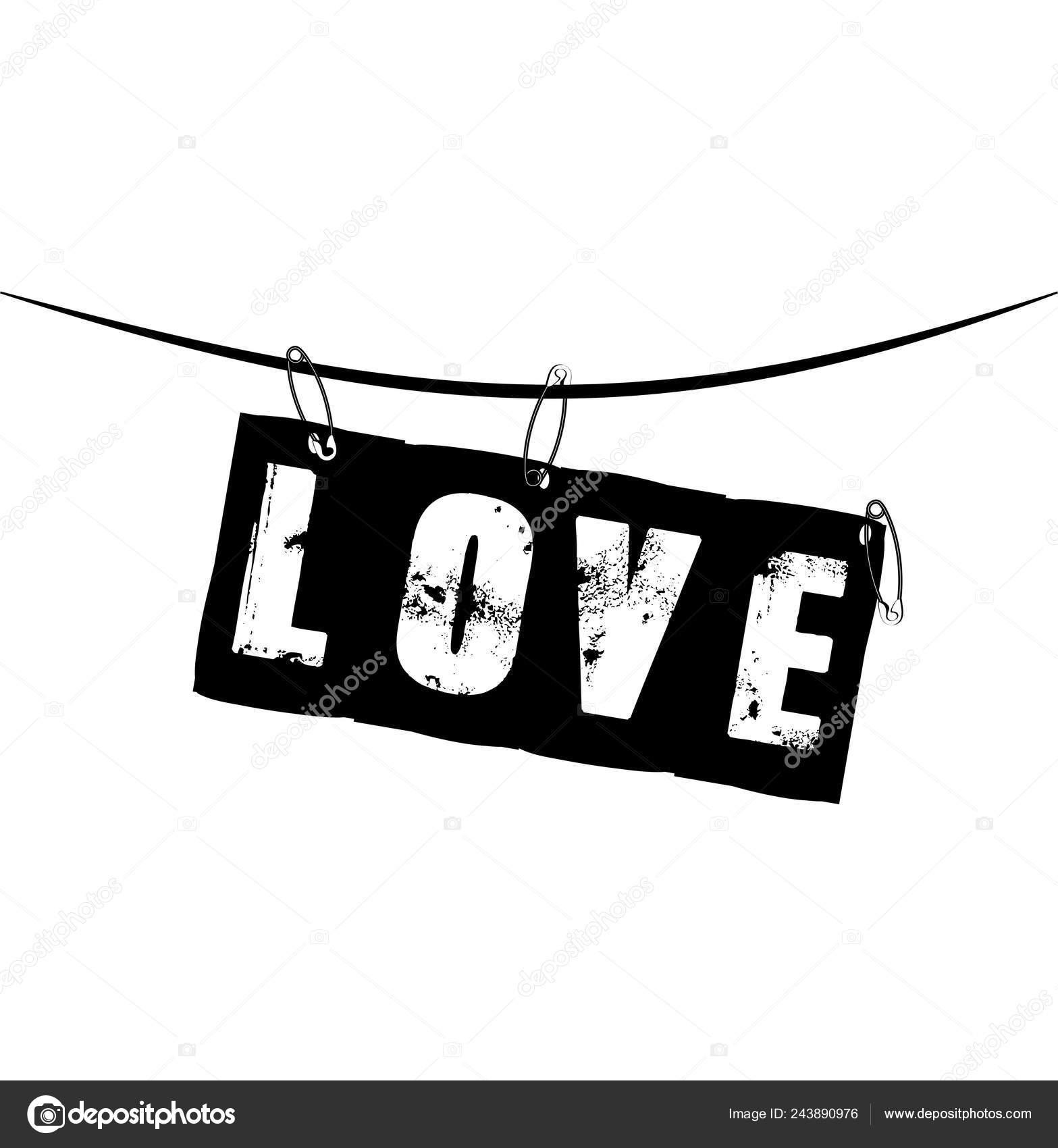 Love Slogan Ripped Paper Illustration — Stock Vector © Ice-Storm