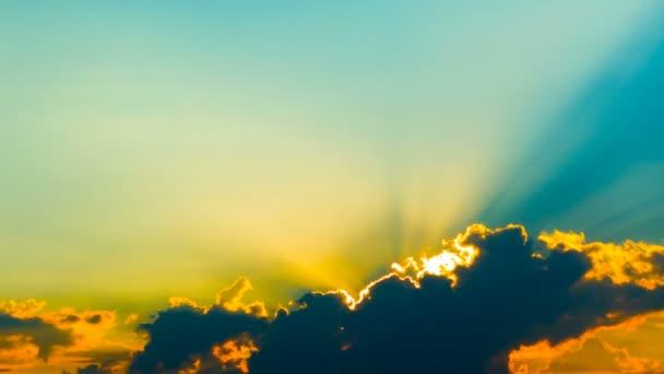 Západ slunce a sluneční paprsky, Časosběr