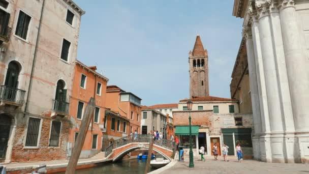 VENICE, ITALY - CIRCA 2015:  Panorama Ponte dei Pugni, Venezia, VE, Italia