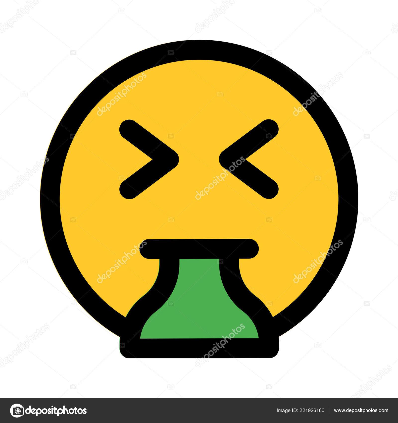 Sickness vomit emoji colorful vector illustration stock vector