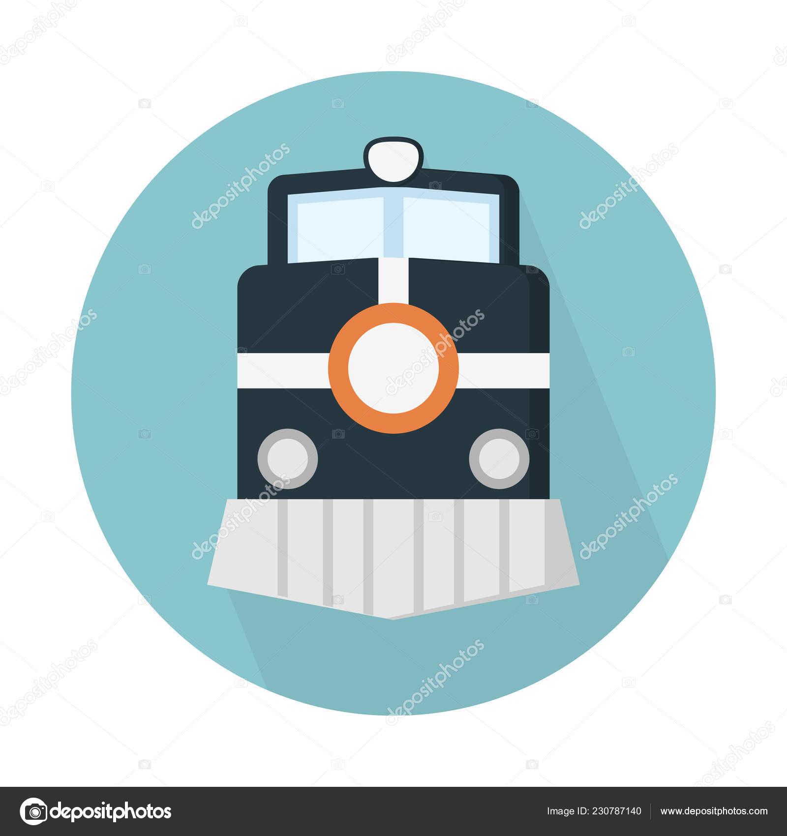Steam Engine Train Icon Simple Vector Illustration — Stock