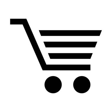 simple vector illustration icon of Retail outlet shopping trolley