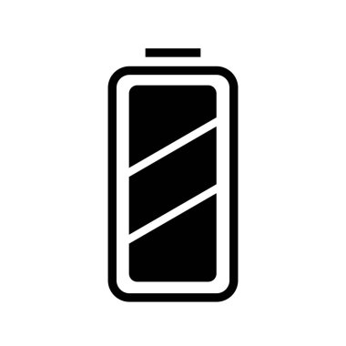 simple vector illustration of Full charged battery