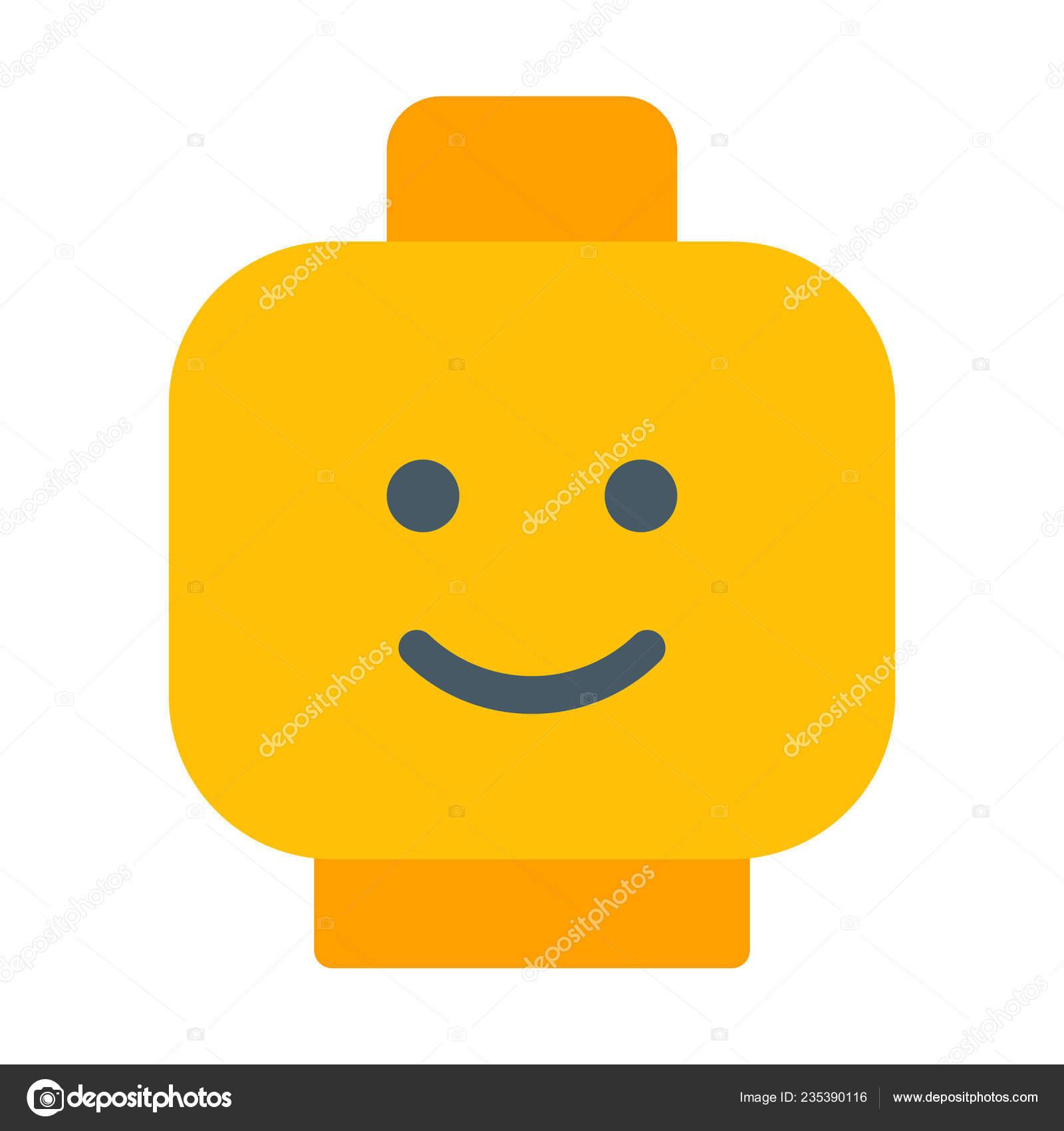 Kids Lego Head Icon Simple Vector Illustration — Stock ...