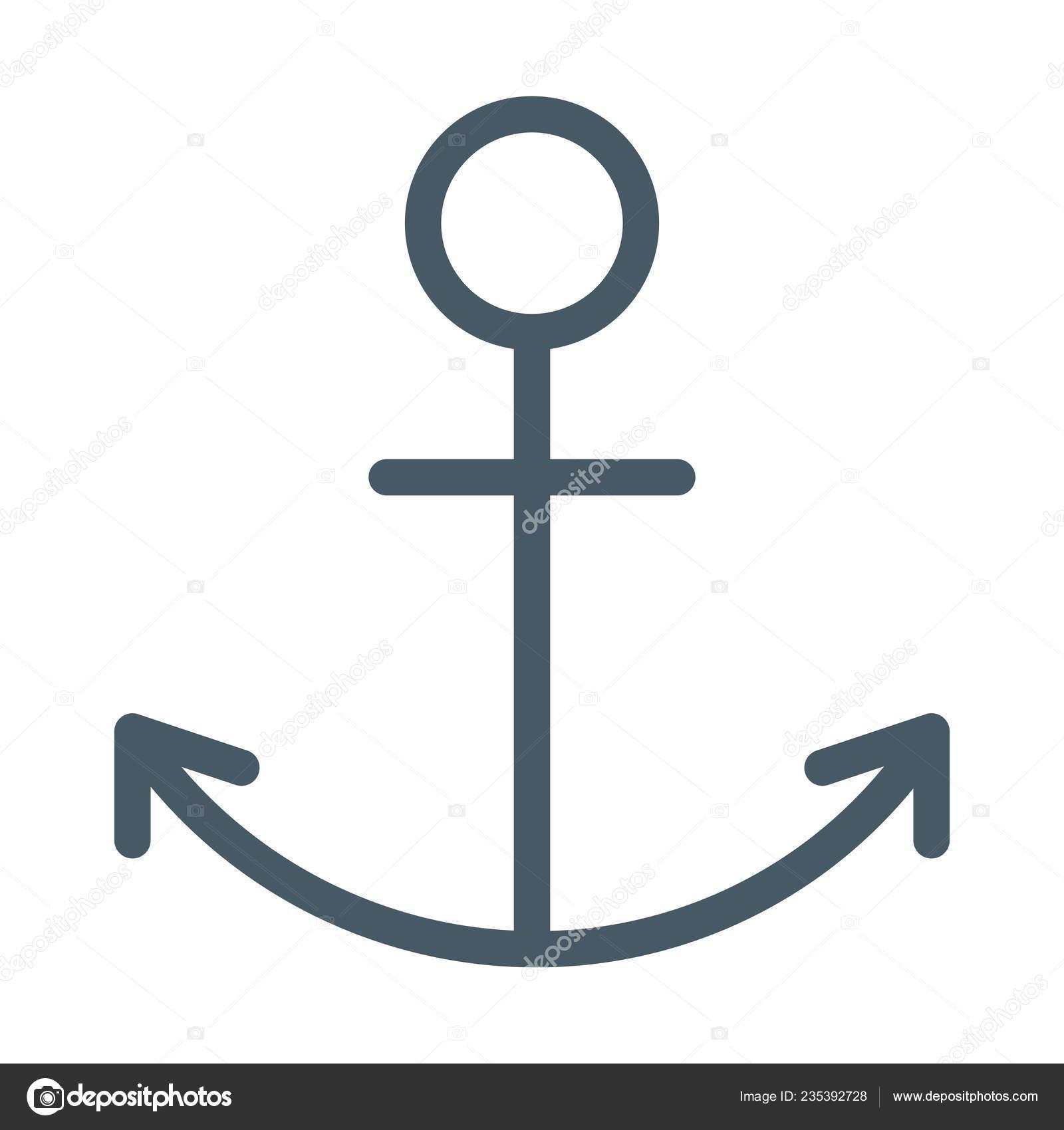 Gemi çapa Sembol Simge Basit Vektör çizim Stok Vektör Get4net