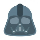 Evil Character face icon, simple vector illustration