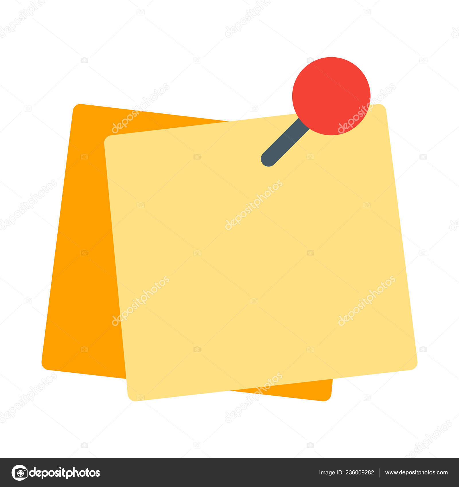 sticky paper reminder icon simple vector illustration stock vector c get4net 236009282 https depositphotos com 236009282 stock illustration sticky paper reminder icon simple html