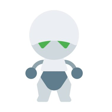 Marvin icon, simple vector illustration