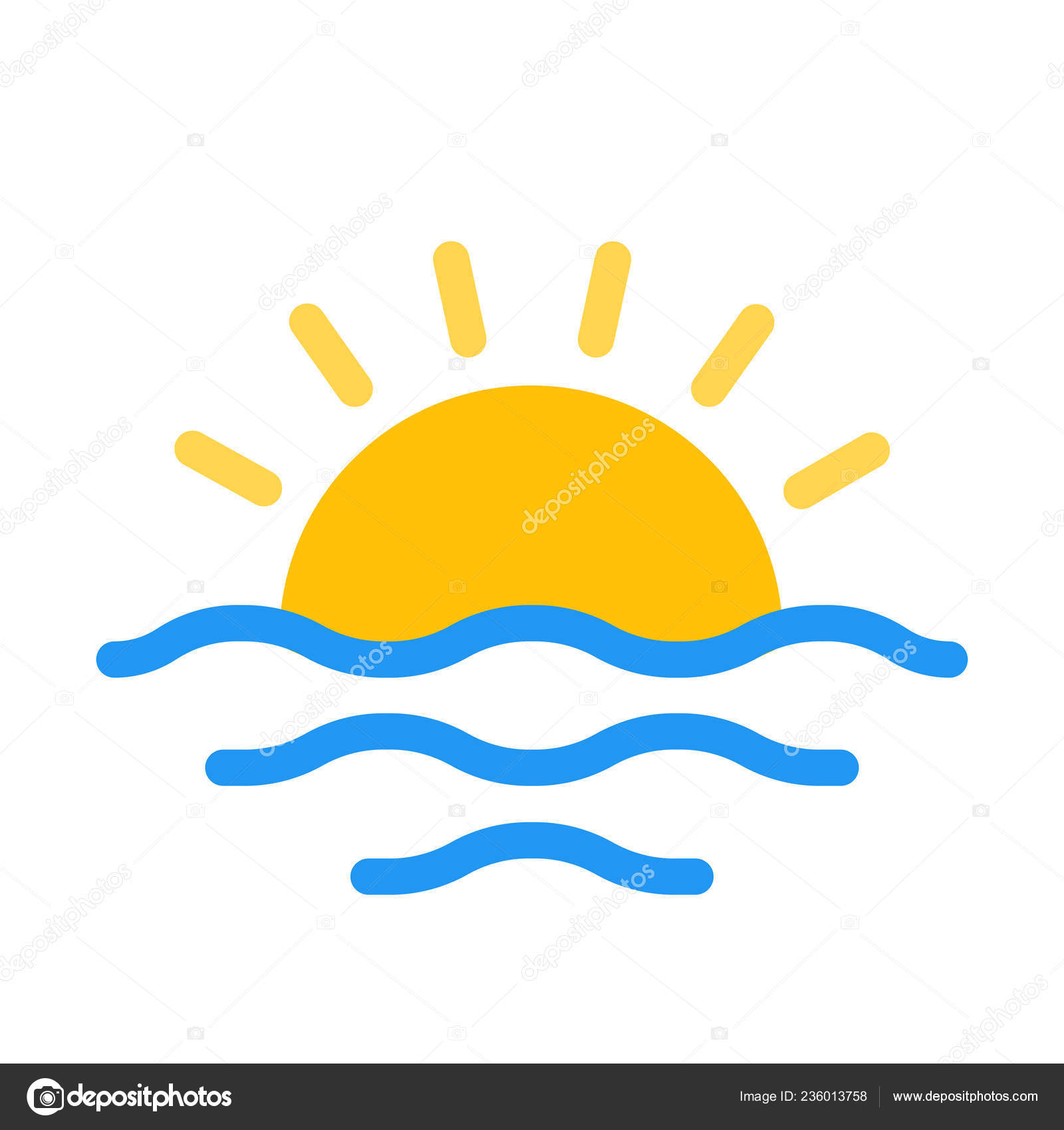 sunset icon simple vector illustration stock vector c get4net 236013758 https depositphotos com 236013758 stock illustration sunset icon simple vector illustration html