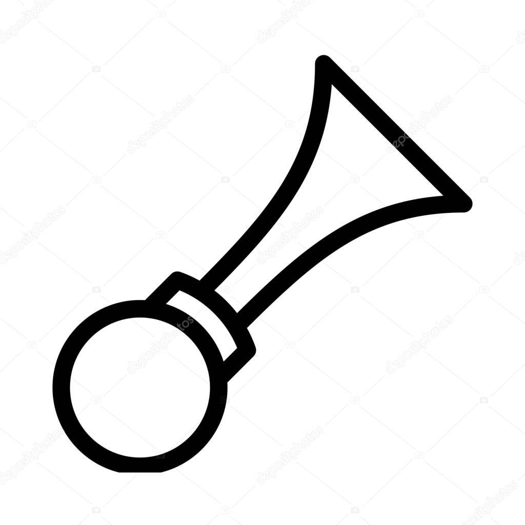Bulb Noise Horn icon vector illustration