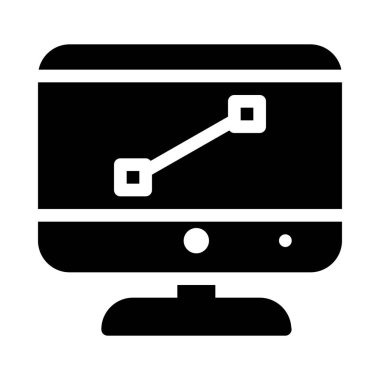 simple vector illustration icon of Digital design on computer