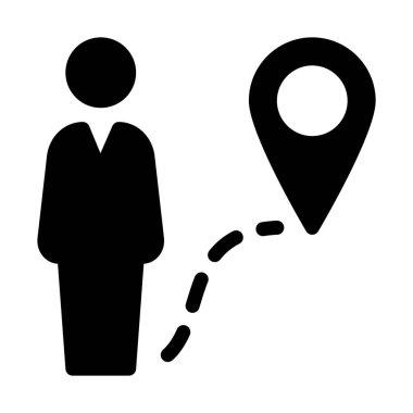 simple vector illustration sign of Navigation and Destination