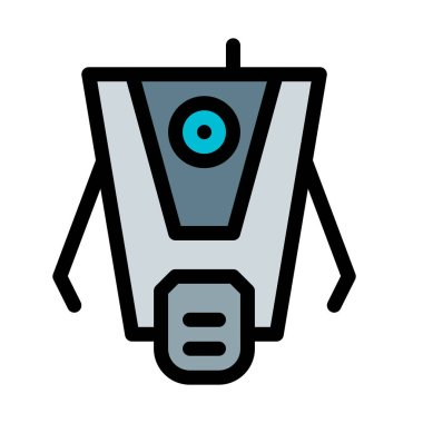 claptrap vector illustration on white background