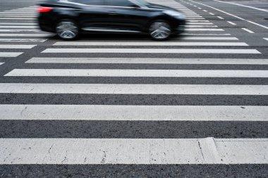 Crosswalk pedestrian crossing in the street