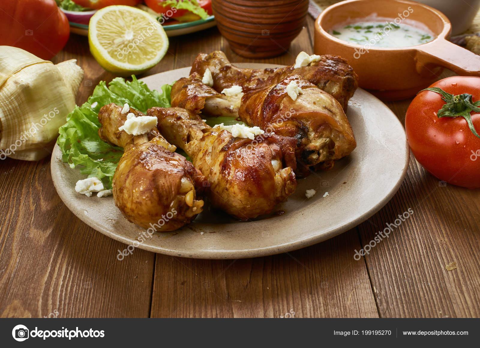 Griechischen Gebackenes Huhn Küche Verschiedene Traditionsgerichte ...