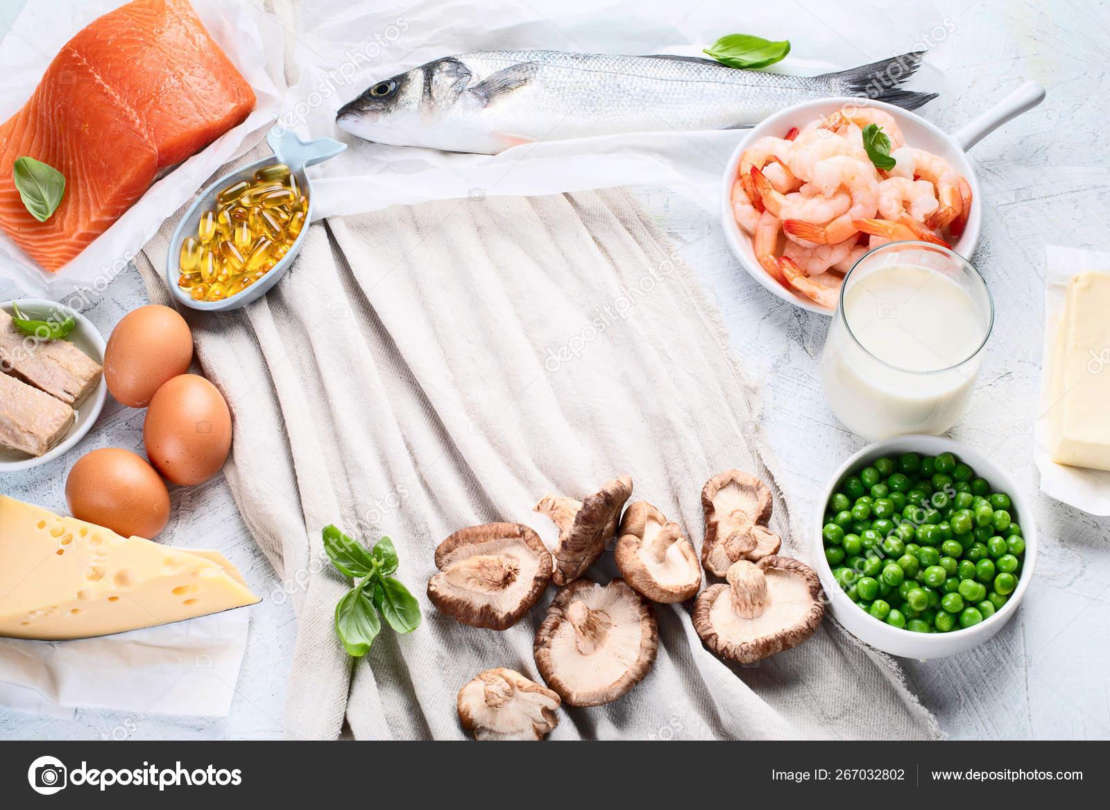 Foods Rich In Natural Vitamin D Stockfoto C Bit245 267032802