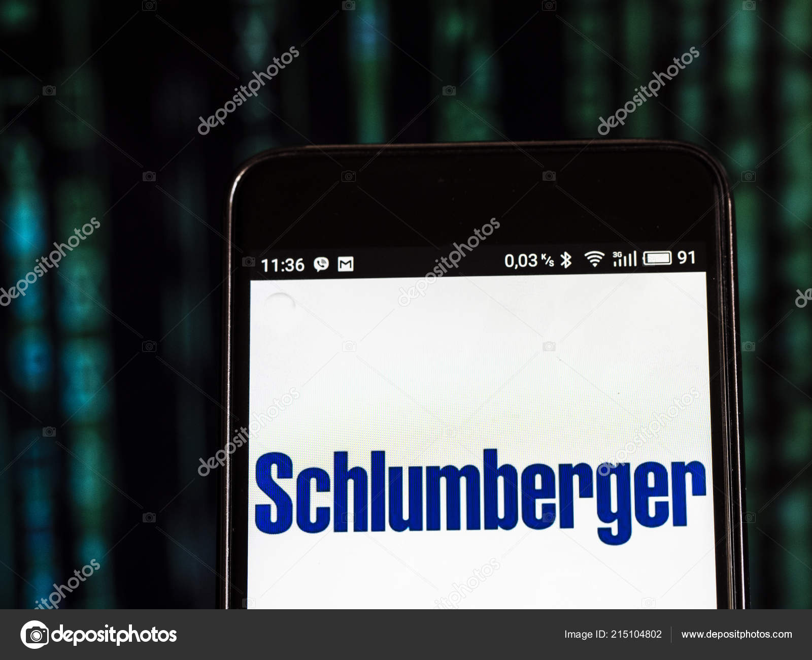 Schlumberger Limited Logo Seen Displayed Smart Phone