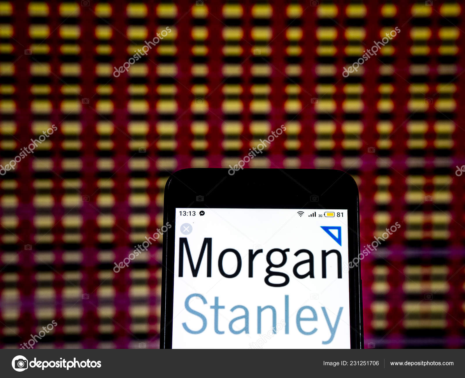 Kiev Ukraine Dec 2018 Morgan Stanley Investment Banking Company Logo