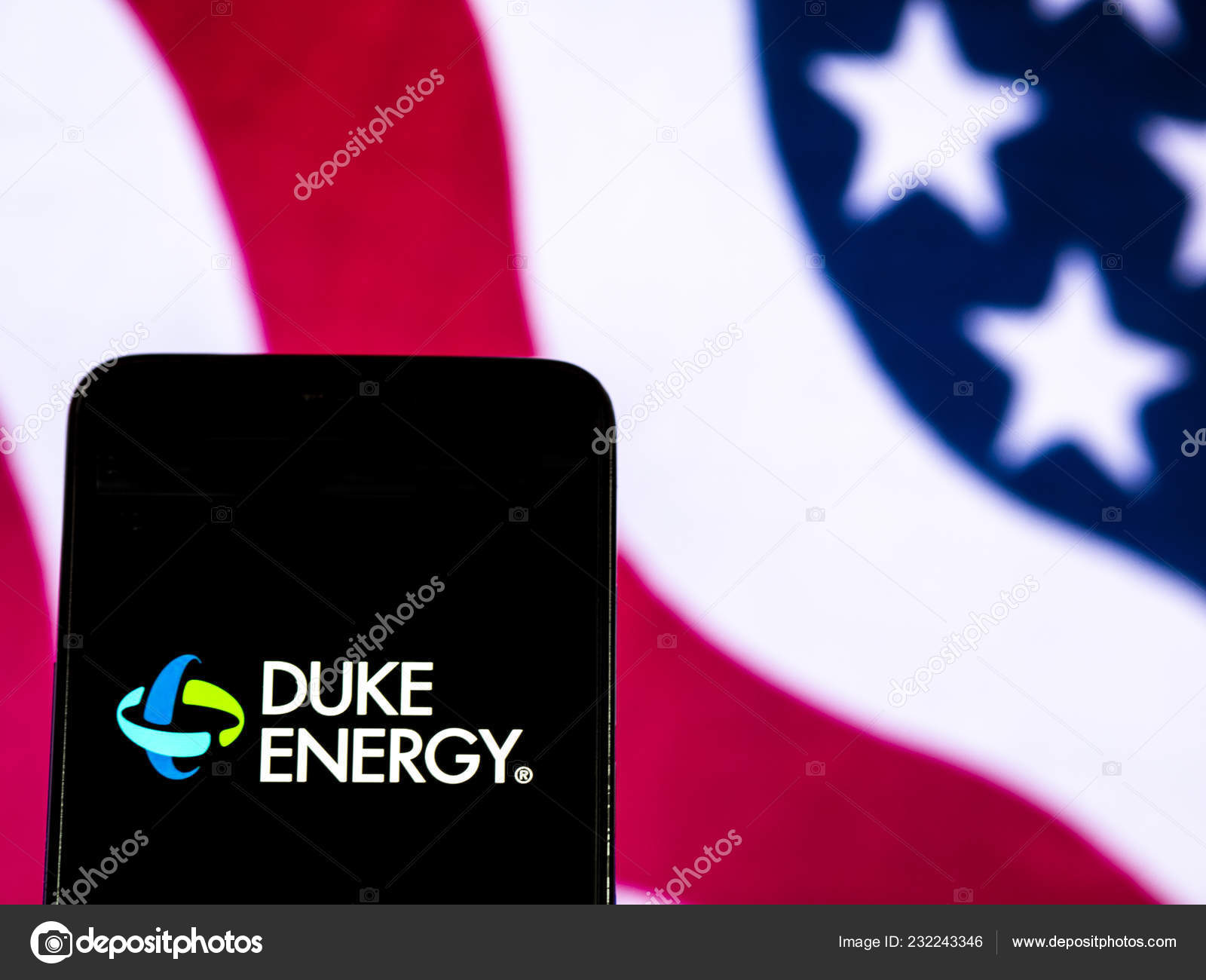 Kiev Ukraine Dec 2018 Duke Energy Electricity Company Logo