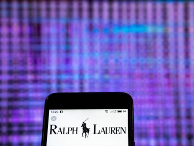 KIEV, UKRAINE - Dec 30, 2018: Ralph Lauren Corporation Fashion company logo seen displayed on smart phone