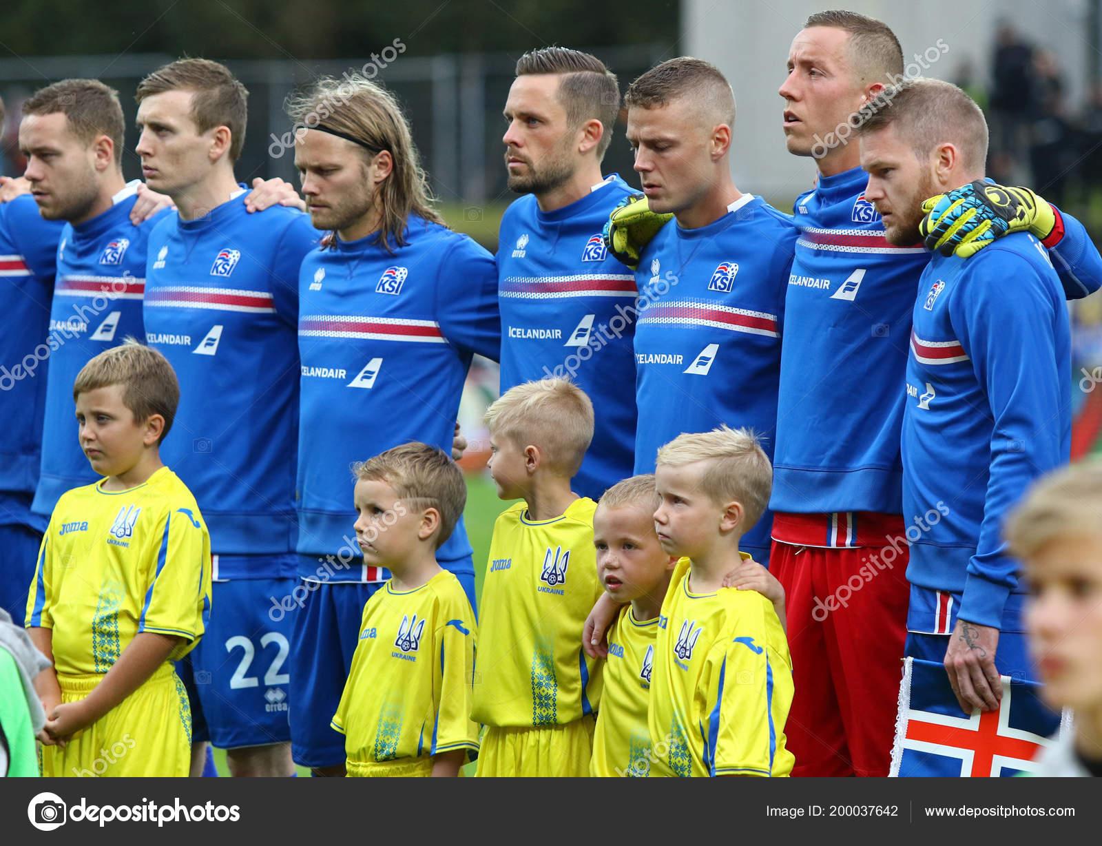Reykjavik Island September 2017 Spieler Der Fussball