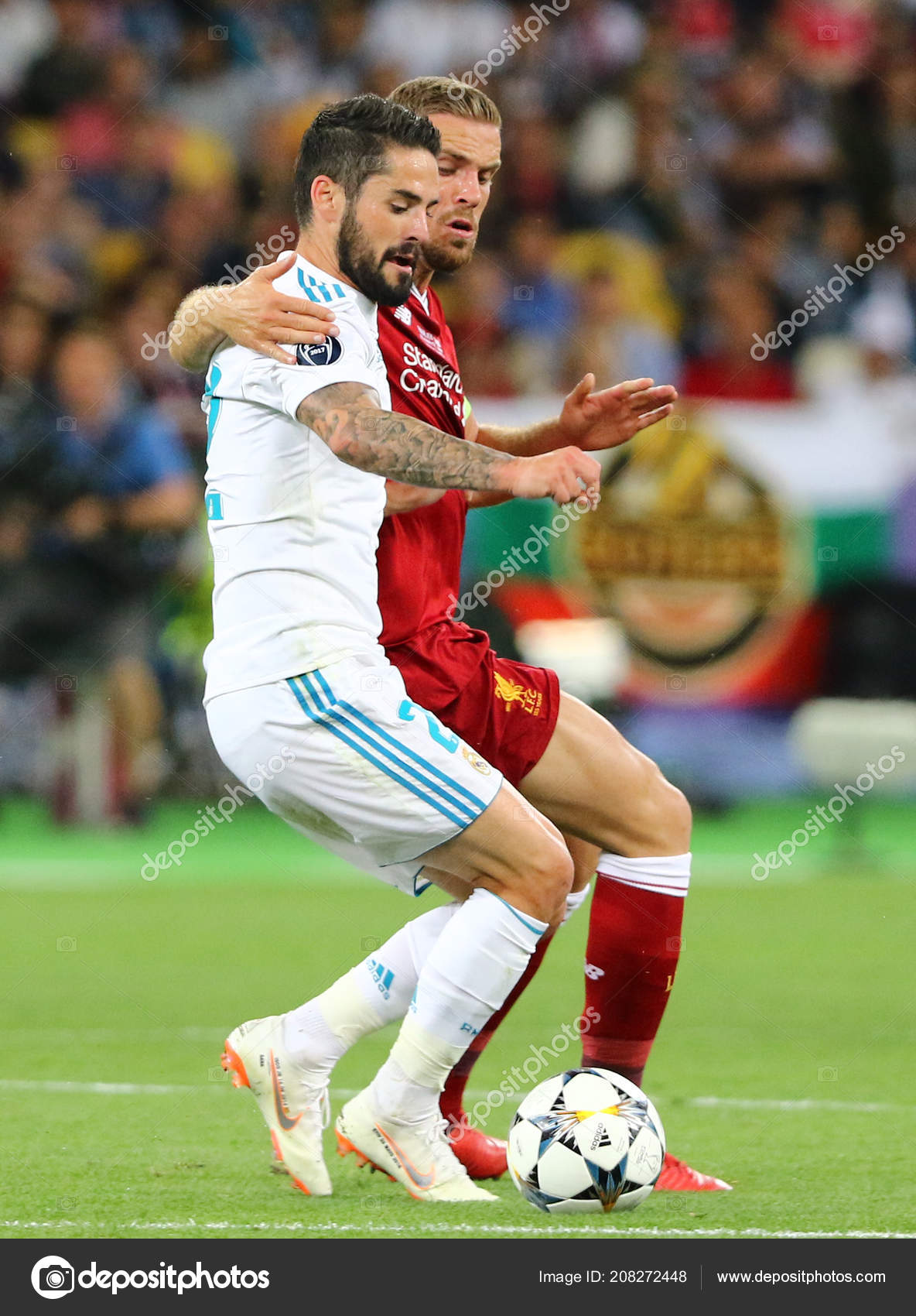 f62f33599fa6c3 Kyiv Ukraine May 2018 Isco Real Madrid White Fights Ball – Stock ...