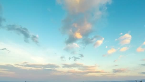 Blue cloudy sky after sunset. Time Lapse