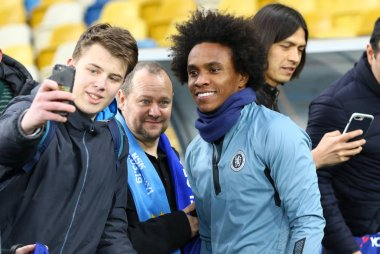 UEFA Europa League. Dynamo Kyiv v Chelsea. Pre-match training