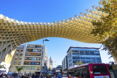 Metropol Parasol wooden structure in Sevilla, Andalusia, Spain