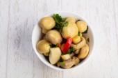 Finom sós ecetes gomba, zöldségek