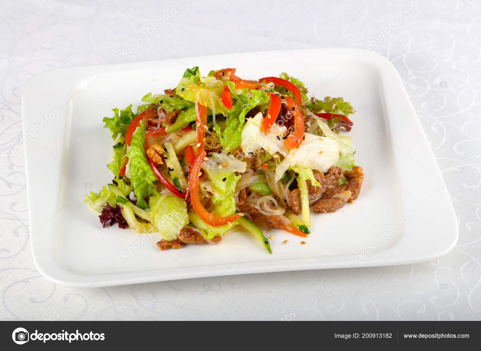 Салат из лапши со свининой рекомендации