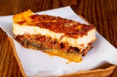 Fotografie Greek traditional mousaka with meat