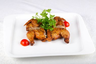 Roasted chicken with parsley