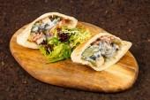 Fotografie Lahodné pita se zeleninou a masem