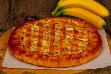 Homemade traditional tasty Ossetian pie