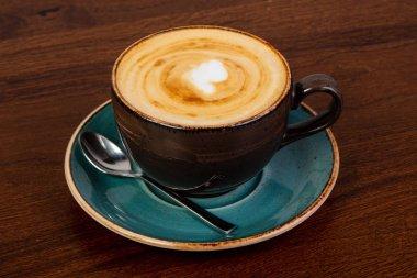 Hot Cappuccino coffee with cream