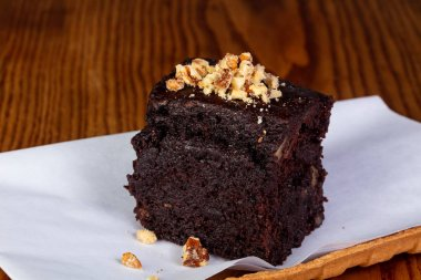 Tasty Brownie cake with nuts
