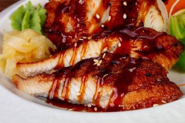 Japanese cold sahimi unagi - eel