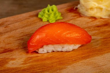 Japanese cold sushi with salmon