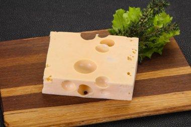 Maasdam cheese brick