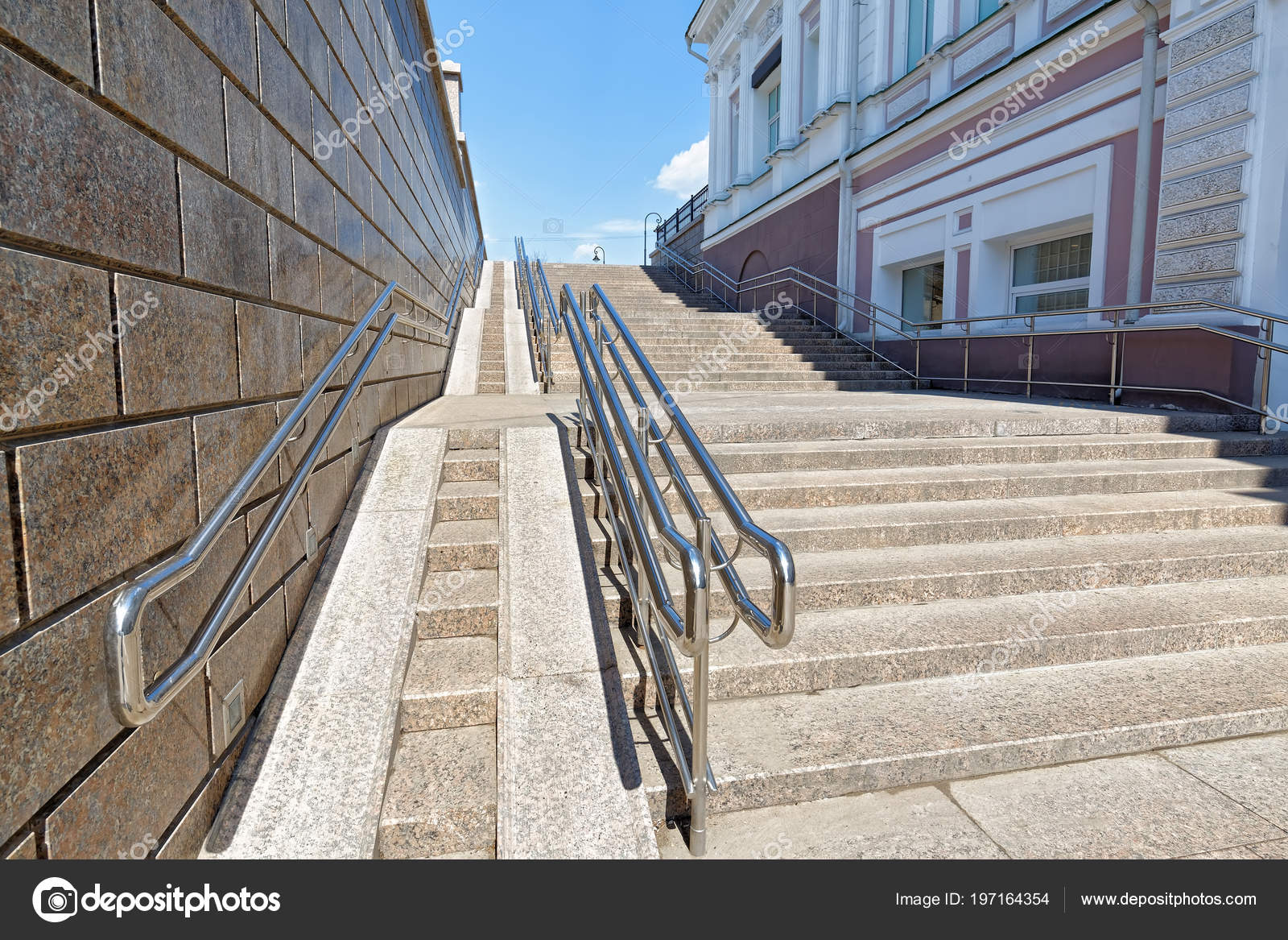 Omsk Russia Large Steep Ramp Wheelchairs Part Staircase